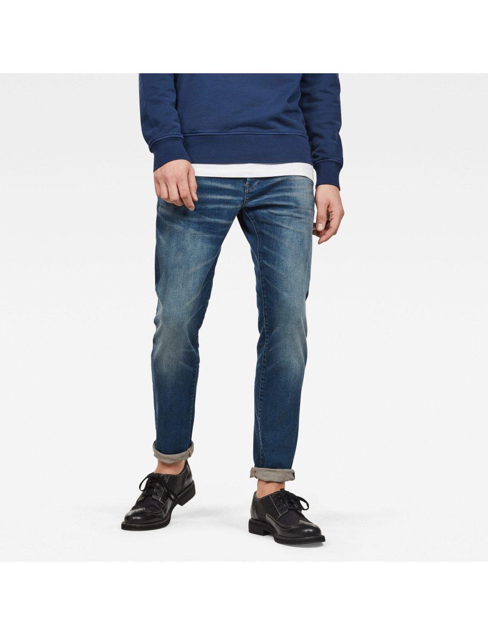 Jean 3301 Slim blue faded